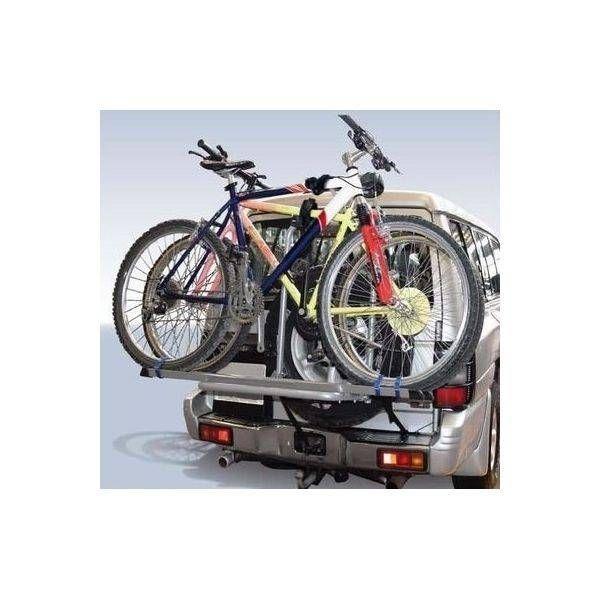 Suport biciclete Menabo Boa 3 pentru 3 biciclete cu prindere pe roata de rezerva
