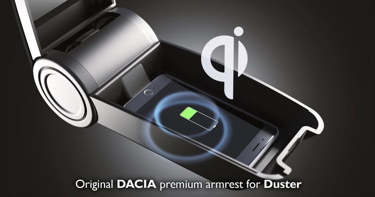 Duster II (2018-2021) - Cotiera Premium Prestige cu conexiune wireless (Dacia Original)