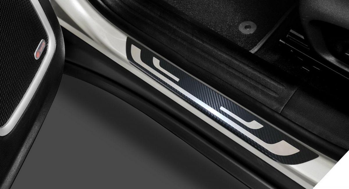 Duster - Protectie praguri Premium Carbon - fata