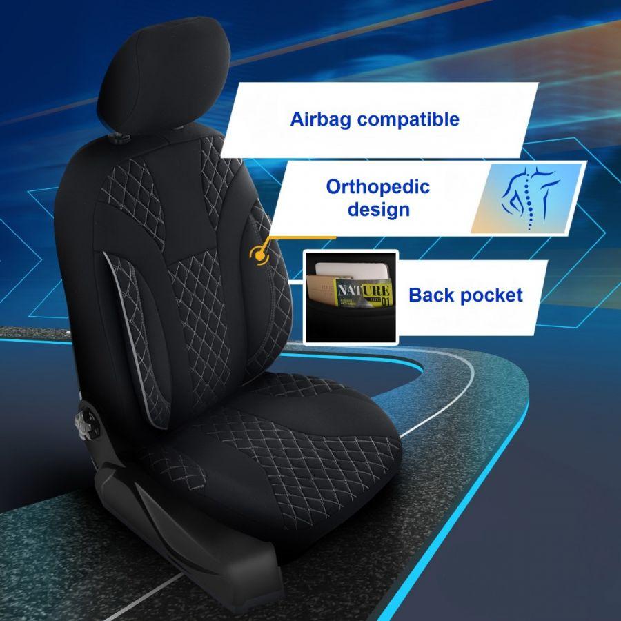 Duster II (2018-2021) - Set Huse scaune Siena - realizate special pentru Duster