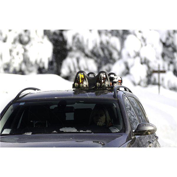Suport schi Menabo Himalaya cu prindere magnetica, 2 perechi ski + bete