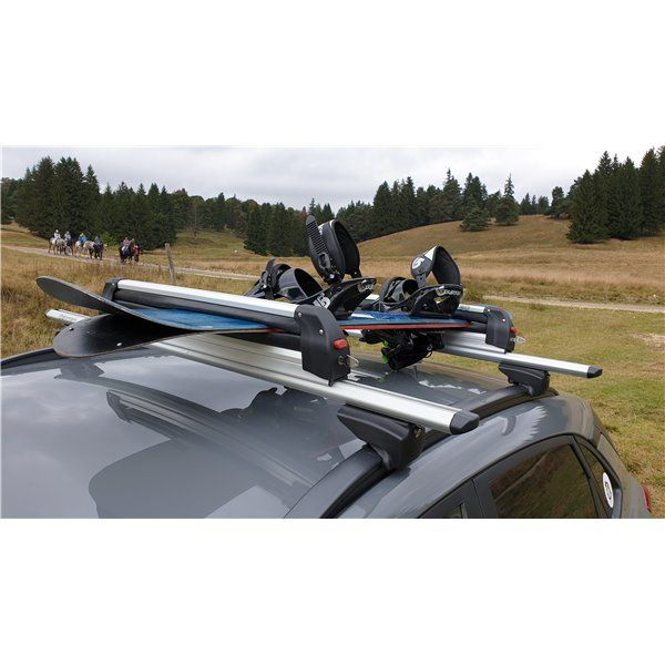 Suport schi snowboard Menabo Silver Ice pe bare transversale, 6 perechi ski / 4 snowboard