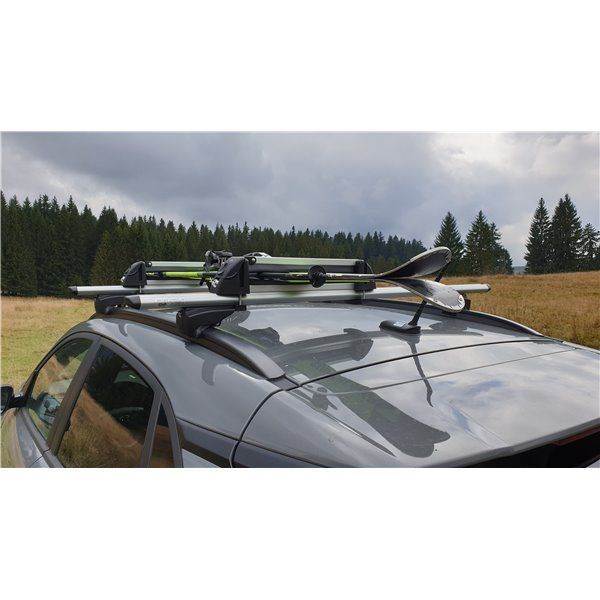 Suport ski snowboard Menabo White Bear 4 pe bare transversale, 4 perechi ski / 2 snowboard
