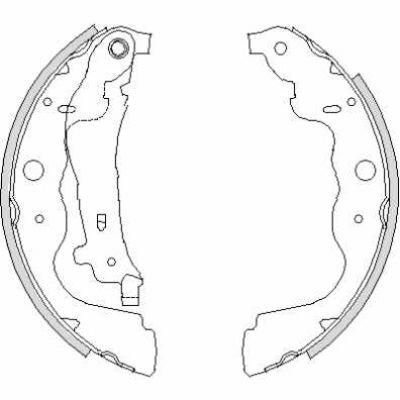 Set saboti frana DACIA DOKKER / DUSTER / DUSTER II / LODGY (TRW GS8780)