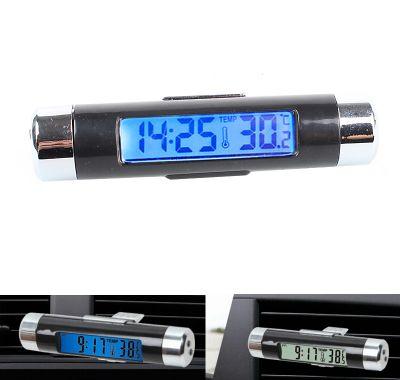 Termometru auto cu ceas