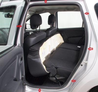Duster (2010-2017) - Chedere interior portiere - spate stanga (Dacia Original)