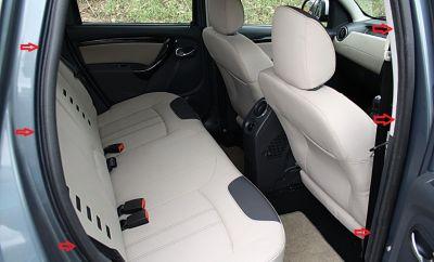 Duster (2010-2017) - Chedere interior portiere- spate dreapta (Dacia Original)