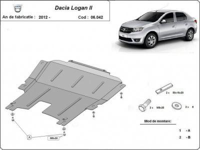 Logan II - Scut metalic pentru motor