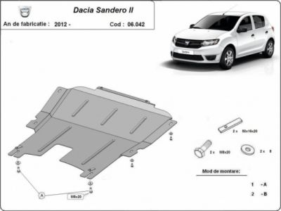 Sandero II (2012-2018) - Scut metalic pentru motor