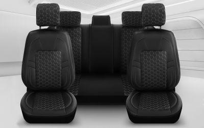 Duster II (2018-2021) - Set Huse scaune Editie Black din Piele Premium - realizate pentru Duster si compatibile cu cotiera