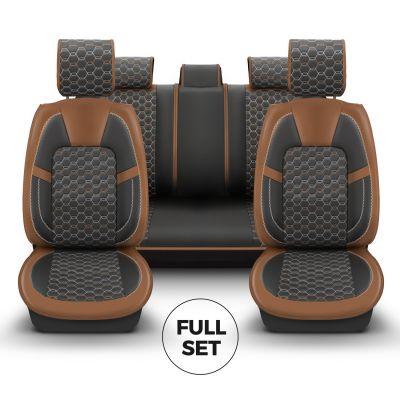 Duster II (2018-2021) - Set Huse scaune Editie Limitata din Piele Premium - realizate pentru Duster si compatibile cu cotiera