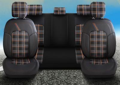 Sandero II (2013-2020) - Set Huse scaune Dynamic - realizate special pentru Sandero