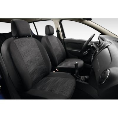 "Sandero II (2012-2018) - Huse de scaun ""Elegant Grey"" (Dacia Original)"