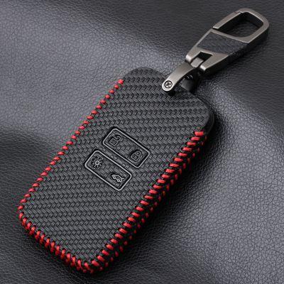 Renault Kadjar/ Koleos/ Megane IV - Husa din piele pentru chei cu aspect de fibra de carbon