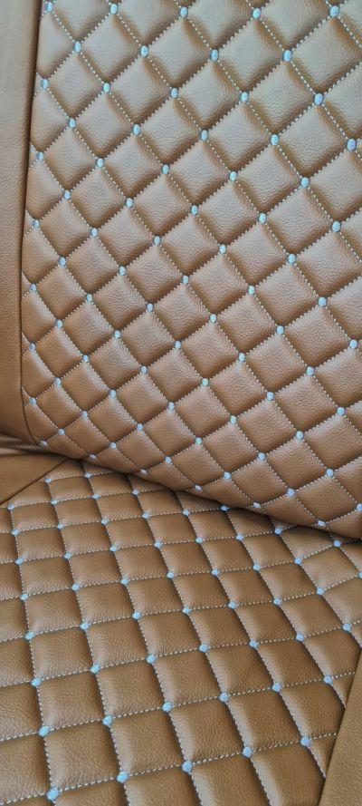 Duster II (2018-2021) - Huse de scaun Stil Luxos- piele maro