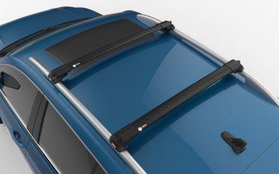 Sandero II (2012-prezent) - Set bare de pavilion transversale Premium- negru