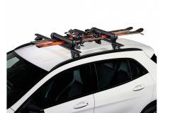 Suport pentru 4 perechi schiuri cu prindere pe bare transversale - Cruz Ski Rack Dark 4