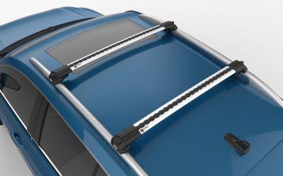 Sandero Stepway / Sandero II - Set bare de pavilion transversale Premium- argintiu